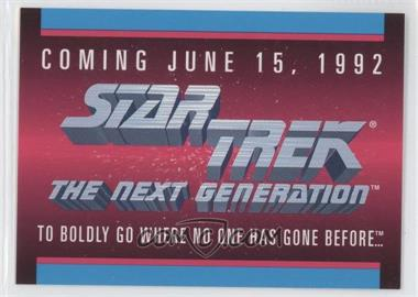 1992 Impel Star Trek The Next Generation - Sample #N/A - [Missing]