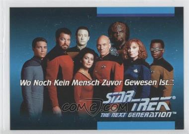 1992 Impel Star Trek: The Next Generation Inaugural Edition Language Cards #01C - German
