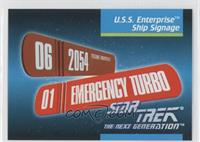 U.s.s. Enterprise Ship Signage