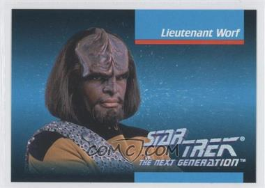 1992 Impel Star Trek The Next Generation #7 - Lieutenant Worf