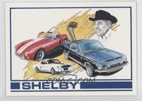 Carroll Shelby with Cobra & Mustangs