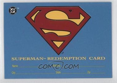 1993 SkyBox DC Bloodlines - Real Superman Redemption Card #S5 - [Missing]