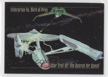1993 SkyBox Master Series Star Trek - Spectra #S-4 - Enterprise vs. Bird of Prey