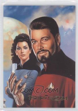 1993 SkyBox Master Series Star Trek #F5 - Commander William Riker, Deanna Troi