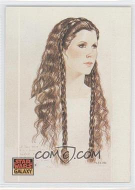 1993 Topps Star Wars Galaxy - [Base] #39 - The Design of Star Wars - Princess Leia's Hair