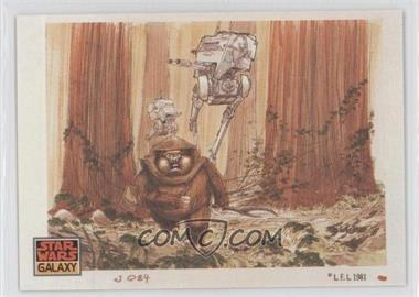1993 Topps Star Wars Galaxy - [Base] #40 - The Design of Star Wars - Ewoks
