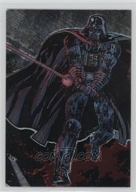 1993 Topps Star Wars Galaxy Etched Foil #1 - Darth Vader
