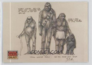 "1993 Topps Star Wars Galaxy Series 1 #19 - ""Typical Wookiee Family"""
