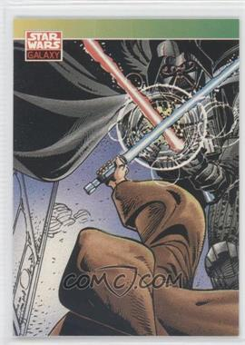 1993 Topps Star Wars Galaxy #124 - New Visions - Darth Vader, Obi-Wan Kenobi