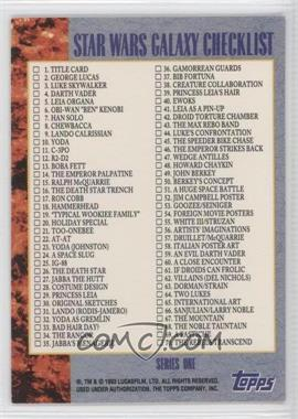 1993 Topps Star Wars Galaxy #140 - Checklist