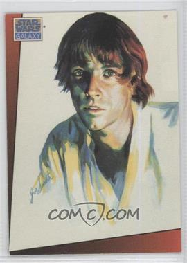 1993 Topps Star Wars Galaxy #3 - Luke Skywalker