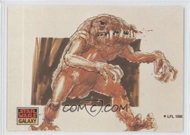 1993 Topps Star Wars Galaxy #34 - The Design of Star Wars - The Rancor