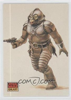 1993 Topps Star Wars Galaxy #35 - The Design of Star Wars - Jabba's Menagerie