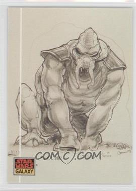 1993 Topps Star Wars Galaxy #38 - The Design of Star Wars - Creature Collaboration