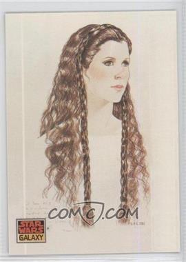 1993 Topps Star Wars Galaxy #39 - The Design of Star Wars - Princess Leia's Hair