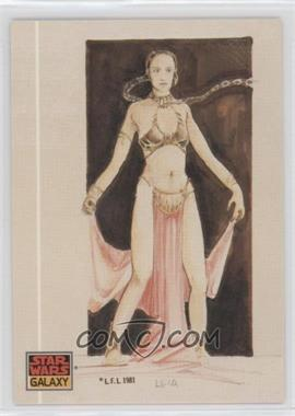 1993 Topps Star Wars Galaxy #41 - The Design of Star Wars - Leia as a Pin-up