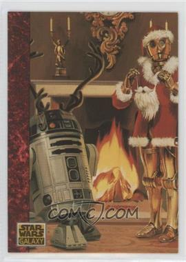1993 Topps Star Wars Galaxy #77 - the Art of Star Wars - Santa Threepio