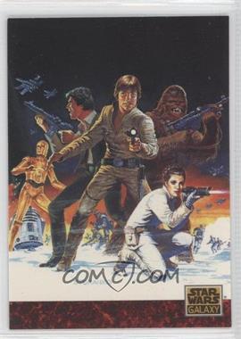 "1993 Topps Star Wars Galaxy #81 - the Art of Star Wars - Steranko's ""Empire"""