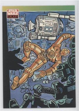 1993 Topps Star Wars Galaxy #90 - New Visions - Steve Ditko