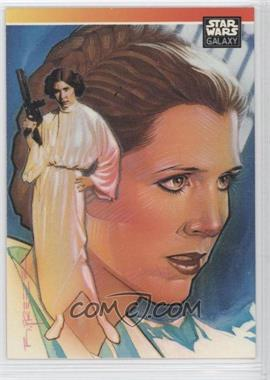 1993 Topps Star Wars Galaxy #NoN - Special Guest Artist Subset Checklist - Leia Organa