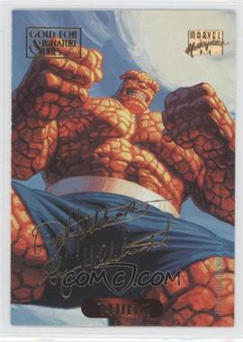 1994 Fleer Marvel Masterpieces - [Base] - Gold Foil Signature Series #123 - Thing