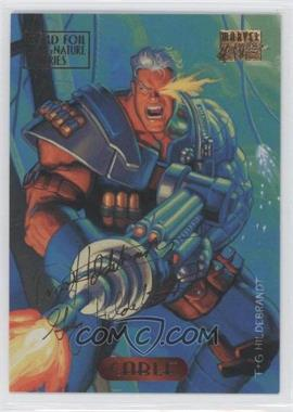 1994 Fleer Marvel Masterpieces - [Base] - Gold Foil Signature Series #17 - Cable