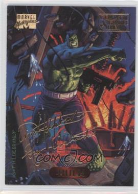 1994 Fleer Marvel Masterpieces - [Base] - Gold Foil Signature Series #50 - Hulk