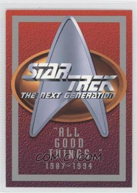 1994 SkyBox Star Trek The Next Generation Season 1 - [???] #N/A - [Missing]