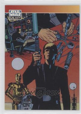 1994 Topps Star Wars Galaxy Series 2 Promos #P2 - Luke Skywalker, C-3PO, R2-D2