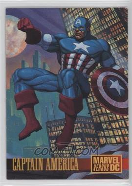 1995 Fleer DC Versus Marvel Promo #2 - Captain America Promo