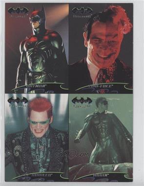 1995 Fleer Ultra Batman Forever Promo Sheet #N/A - Batman, Two-Face, Riddler, Robin
