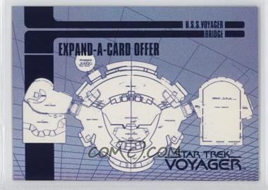 1995 SkyBox Star Trek: Voyager Season One Series 1 - Blueprint Offer Expand-A-Cards #X-2 - U.S.S. Voyager Bridge