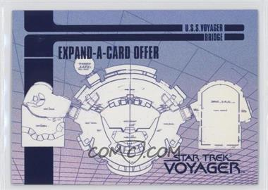 1995 SkyBox Star Trek: Voyager Season One Series 1 Blueprint Offer Expand-A-Cards #X-2 - U.S.S. Voyager Bridge