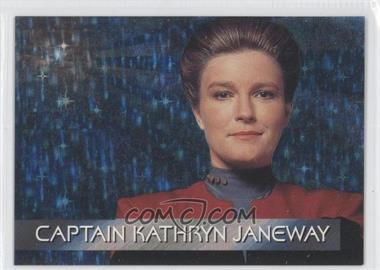 1995 SkyBox Star Trek: Voyager Season One Series 1 Spectra-Etch Crew #S1 - Captain Kathryn Janeway