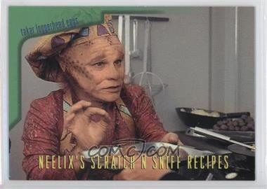 1995 SkyBox Star Trek: Voyager Season One Series 2 - Neelix's Scratch N Sniff Recipes #R3 - Takar Loggerhead Eggs, with Asparagus Chili Sauce