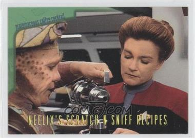 1995 SkyBox Star Trek: Voyager Season One Series 2 - Neelix's Scratch N Sniff Recipes #R4 - Proteinaceous Coffee Cocktail