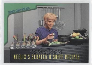 1995 SkyBox Star Trek: Voyager Season One Series 2 - Neelix's Scratch N Sniff Recipes #R6 - Spinach Shake with Pear