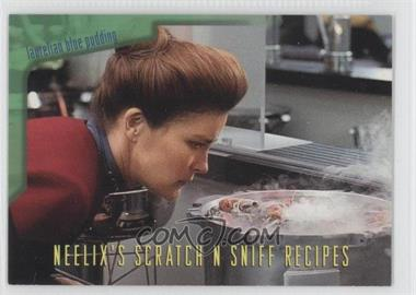 1995 SkyBox Star Trek: Voyager Season One Series 2 Neelix's Scratch N Sniff Recipes #R2 - Laurelian Blue Pudding