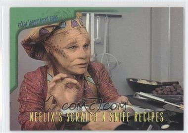 1995 SkyBox Star Trek: Voyager Season One Series 2 Neelix's Scratch N Sniff Recipes #R3 - Takar Loggerhead Eggs, with Asparagus Chili Sauce