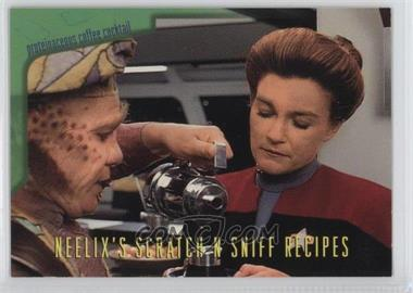 1995 SkyBox Star Trek: Voyager Season One Series 2 Neelix's Scratch N Sniff Recipes #R4 - Proteinaceous Coffee Cocktail