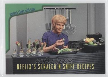 1995 SkyBox Star Trek: Voyager Season One Series 2 Neelix's Scratch N Sniff Recipes #R6 - Spinach Shake with Pear