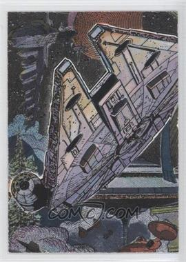 1995 Topps Star Wars Galaxy Series 3 Etched Foil #14 - Millennium Falcon