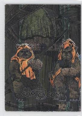 1995 Topps Star Wars Galaxy Series 3 Etched Foil #15 - Wicket W. Warrick