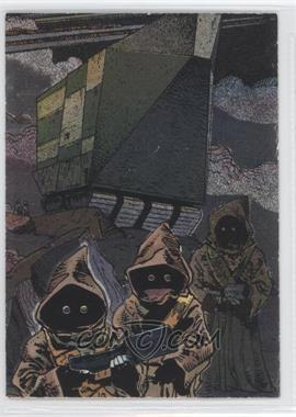 1995 Topps Star Wars Galaxy Series 3 Etched Foil #16 - Jawas