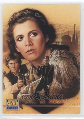 1995 Topps Star Wars Galaxy Series 3 Promos #000 - Princess Leia Organa, Han Solo, Jabba The Hutt