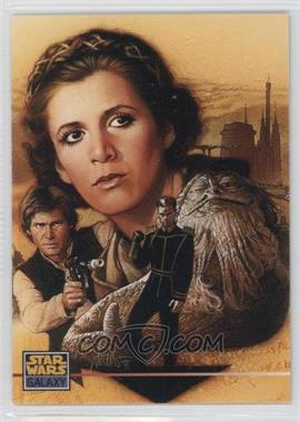 1995 Topps Star Wars Galaxy Series 3 Promos #000 - Princess Leia Organa, Han Solo, Jabba The Hutt