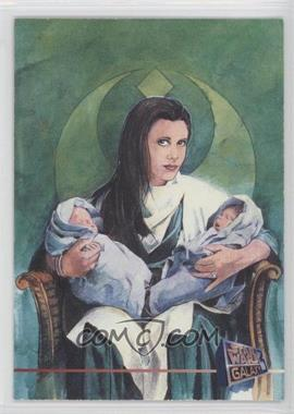 1995 Topps Star Wars Galaxy Series 3 Promos #P7 - Leia Organa, Jacen Solo, Jania Solo