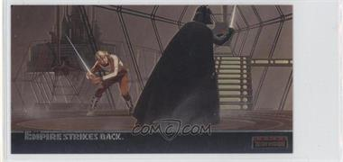 1995 Topps Star Wars: The Empire Strikes Back Widevision - Finest Chromium #C-8 - In Cloud City's Carbon-Freezing Chamber...