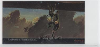 1995 Topps Star Wars: The Empire Strikes Back Widevision Finest Chromium #C-9 - Luke Hangs On For Dear Life...