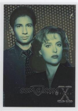 1995 Topps The X Files Season 1 Finest Chromium #X1 - Agents Mulder and Scully